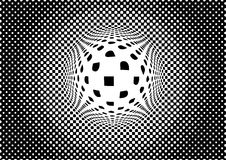 Optical illusion monochrome abstract background Royalty Free Stock Image