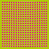 The optical illusion of movement executed in the form of fluctuating Pink and White circles Royalty Free Stock Photos