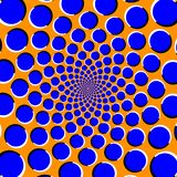 Optical illusion with moving circles vector illustration