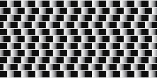 Optical illusion. Parallel lines made from black and white pillows. Stock Photography