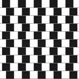 Optical illusion - parallel lines made from black Stock Photography