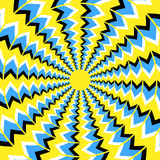 Optical illusion of rotation Royalty Free Stock Images