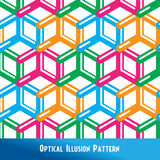 Optical Illusion Seamless Pattern Royalty Free Stock Images