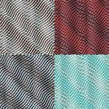 Optical illusion. Set of four seamless striped pattern. Stylized wave Stock Photos