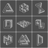 Optical illusion shapes. Vector elements Stock Images