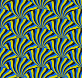 Optical Illusion Spin Cycle, Vector Pattern Abstract Background. Some rotation effect appear Royalty Free Stock Image
