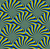 Optical Illusion Spin Cycle, Vector Pattern Abstract Background. Royalty Free Stock Image