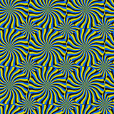 Optical Illusion Spin Cycle, Vector Pattern Abstract Background. Some rotation effect appear Royalty Free Stock Images