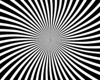 Optical illusion spiral background. The image describes a background of spiral optical illusion, formed by lines stock illustration