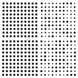 Optical illusion. Squares Patterns Stock Photography