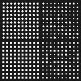 Optical illusion. Squares Patterns Stock Photo