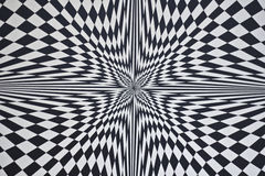 Optical illusion. Star shaped movement optical illusion Stock Images
