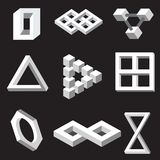 Optical illusion symbols.  Vector illustration. Royalty Free Stock Photography