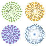 Optical illusion symbols  Royalty Free Stock Photos