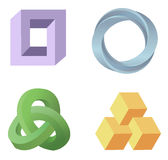 Optical illusion symbols  Royalty Free Stock Photography