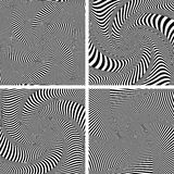 Optical illusion of torsion twisting movement. Set. Stock Photography