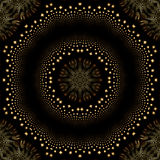Optical illusion twinkling star mandala Royalty Free Stock Photo