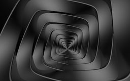 Optical illusion of twisting dark gray spiral from rhombuses 1 Royalty Free Stock Photography