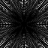 Optical illusion, vector creative black and white graphic moire Stock Photo
