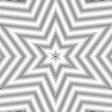 Optical illusion, vector moire background, abstract lined monoch Royalty Free Stock Photography