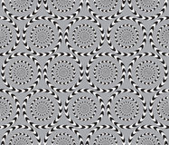 Optical Illusion, Vector Seamless Pattern. Stock Photos