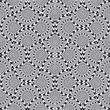 Optical Illusion, Vector Seamless Pattern. Royalty Free Stock Photo