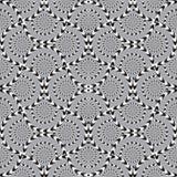Optical Illusion, Vector Seamless Pattern. Optical Illusion, Vector Seamless Pattern Background, Circles Rotates Slowly Royalty Free Stock Photo