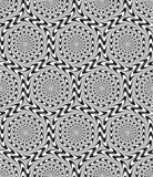 Optical Illusion, Vector Seamless Pattern Background. Optical Illusion, Vector Seamless Pattern Background, Hexagons Moves Slowly Royalty Free Stock Photography