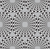 Optical Illusion, Vector Seamless Pattern Background. Royalty Free Stock Photo