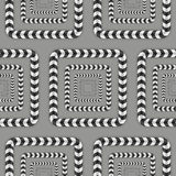 Optical Illusion, Vector Seamless Pattern. Royalty Free Stock Images