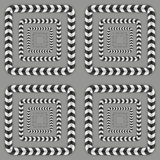 Optical Illusion, Vector Seamless Pattern. Stock Image