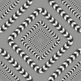 Optical Illusion Vector Seamless Pattern. Stock Photo