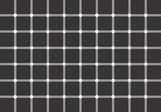 Optical illusion: white or black dots? Stock Images