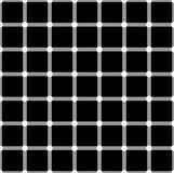 Optical illusion. White circles flash on black squares and change color. Seamless pattern royalty free illustration