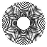Optical Illusion Wire Pattern Stock Photography