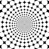 Optical illusion zoom black and white abstract background Stock Images
