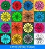 Optical illusions: Circles Stock Images
