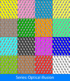 Optical illusions: Cubes Stock Image