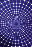 Optical Illusions, infinity light tunnel Royalty Free Stock Photo