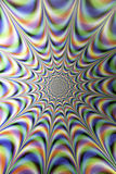 Optical Illusions, infinity light tunnel Royalty Free Stock Photography
