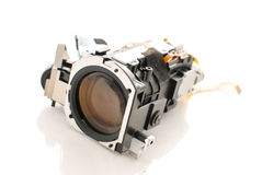 Optical Lens. Module With Slight Reflection On White Royalty Free Stock Image