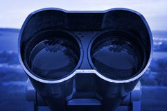 Optical lens binocular Stock Image