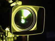 Optical lens of camcorder Royalty Free Stock Photo