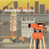 The Optical Level. The geodetic device. Topography in construction. The background image of construction. The measuring device in construction Stock Photo