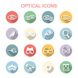 Optical long shadow icons Royalty Free Stock Image