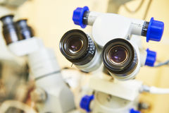 Optical medical equipment for eye examination Stock Images