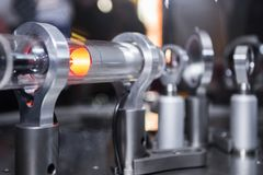 Free Optical Michelson Interferometer With Red Laser Royalty Free Stock Photography - 108461197