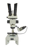 Optical microscope. On white background Stock Images