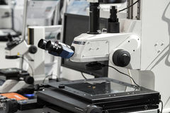 Optical microscope measuring system. Stock Image