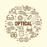 Optical minimal thin line icons set Royalty Free Stock Photos